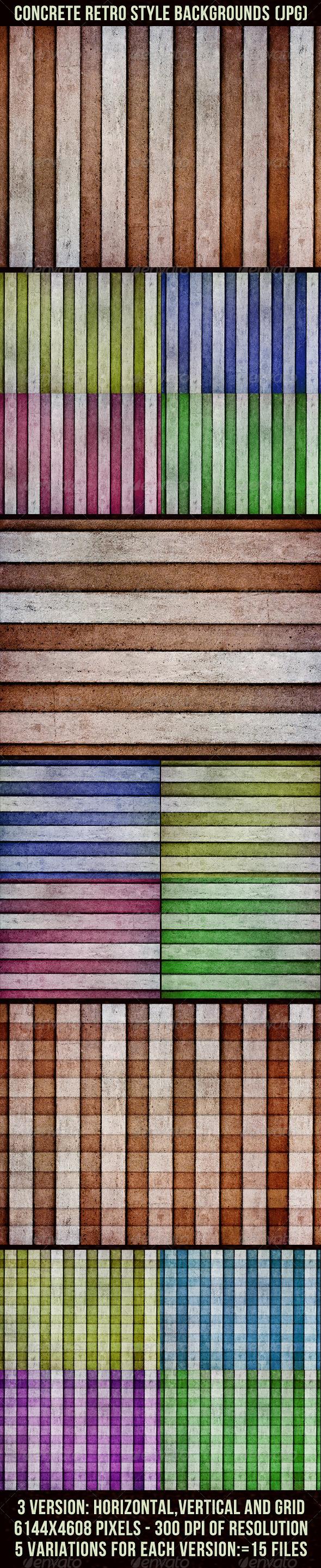 GraphicRiver Concrete Retro Backgrounds 4442694