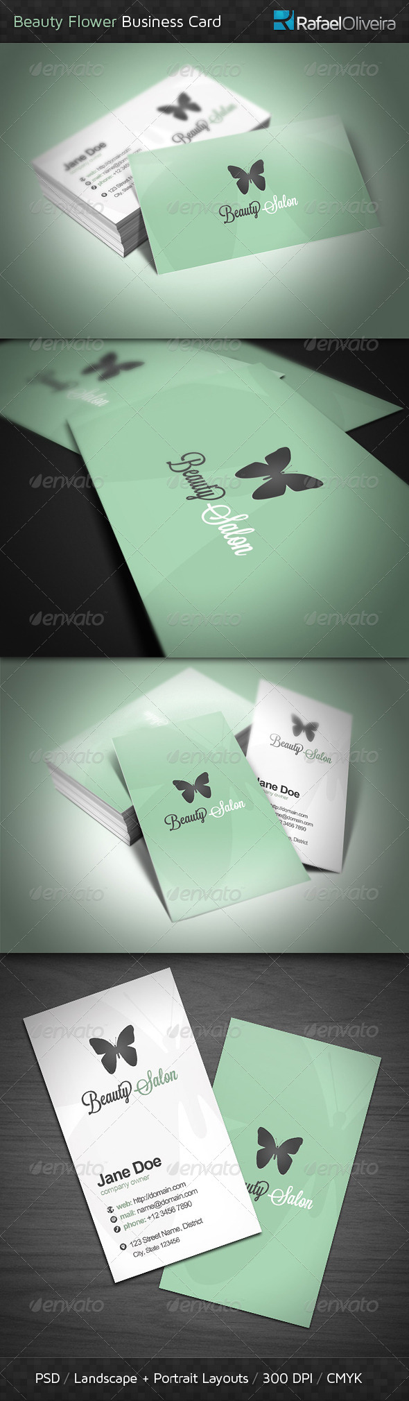 GraphicRiver Beauty Flower Business Card 4442711
