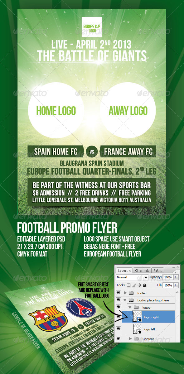 GraphicRiver Football Europe League Promo Flyer 4442713
