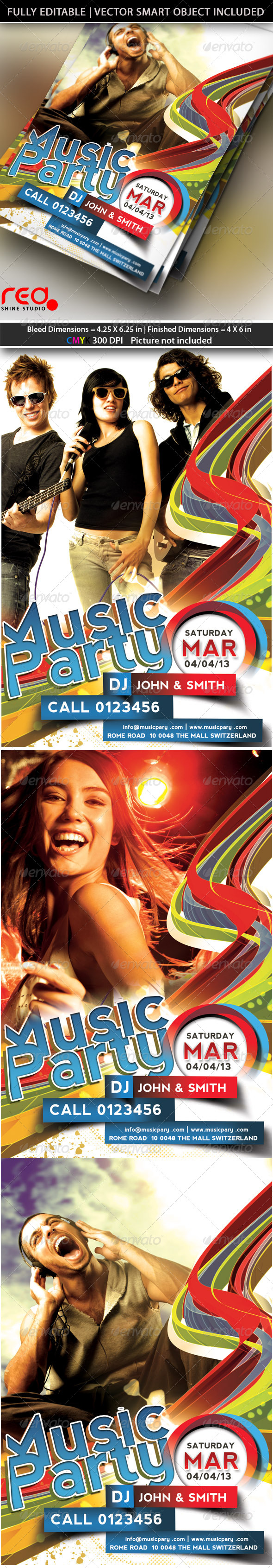 GraphicRiver Music Party Flyer Template 4337748