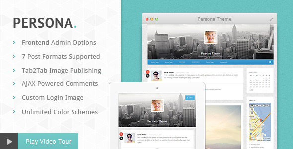 ThemeForest Persona Responsive AJAX Blog and Portfolio Theme 4426398