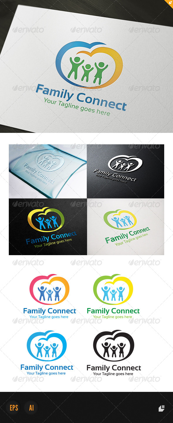 GraphicRiver Family Connect Logo 4442765