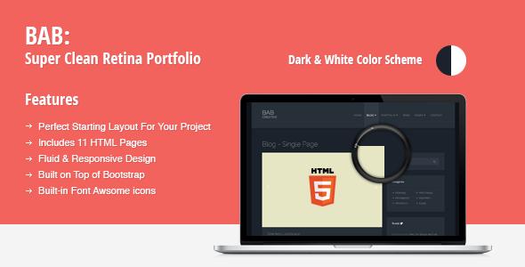 BAB: Clean, Responsive Portfolio HTML Theme - Portfolio Creative