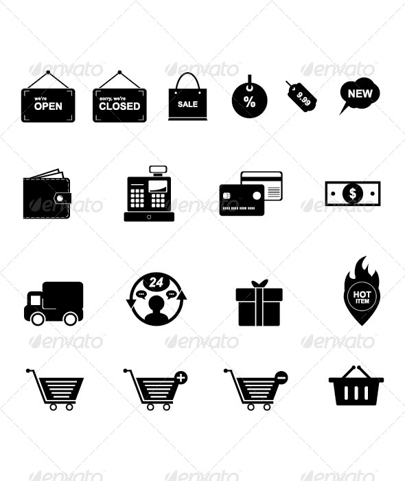 GraphicRiver Shopping Icon Set 4442812