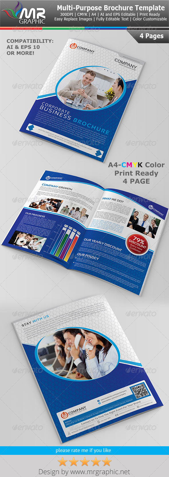 Multipurpose Business Brochure Template Vol-16