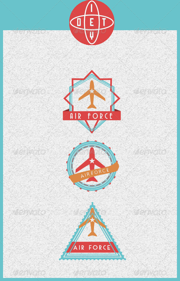 GraphicRiver AirForce Badges 4399708