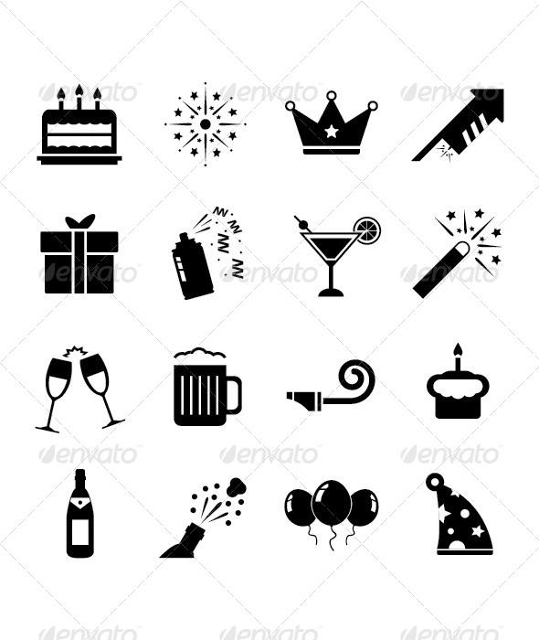 GraphicRiver Celebration Icon Set 4442943