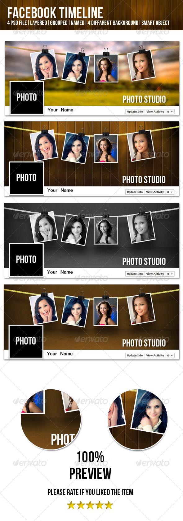 GraphicRiver Facebook Timeline Photo Studio 4442948