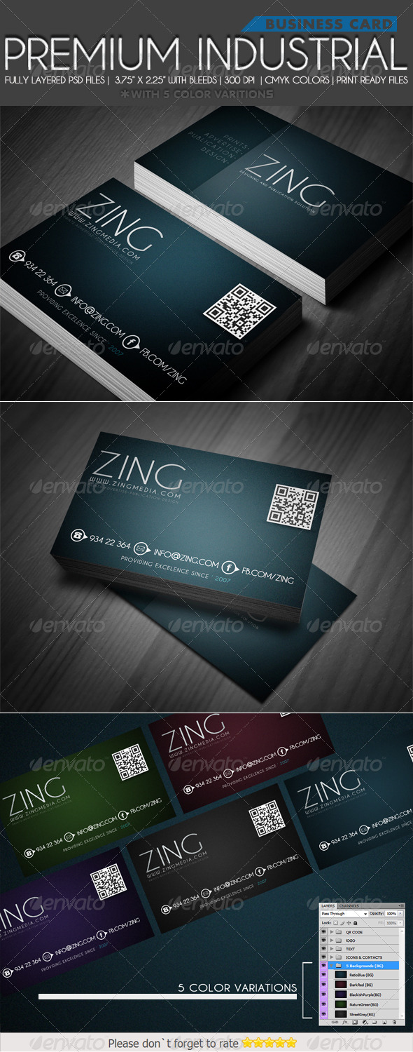 GraphicRiver Premium Industrial Business card 4298777
