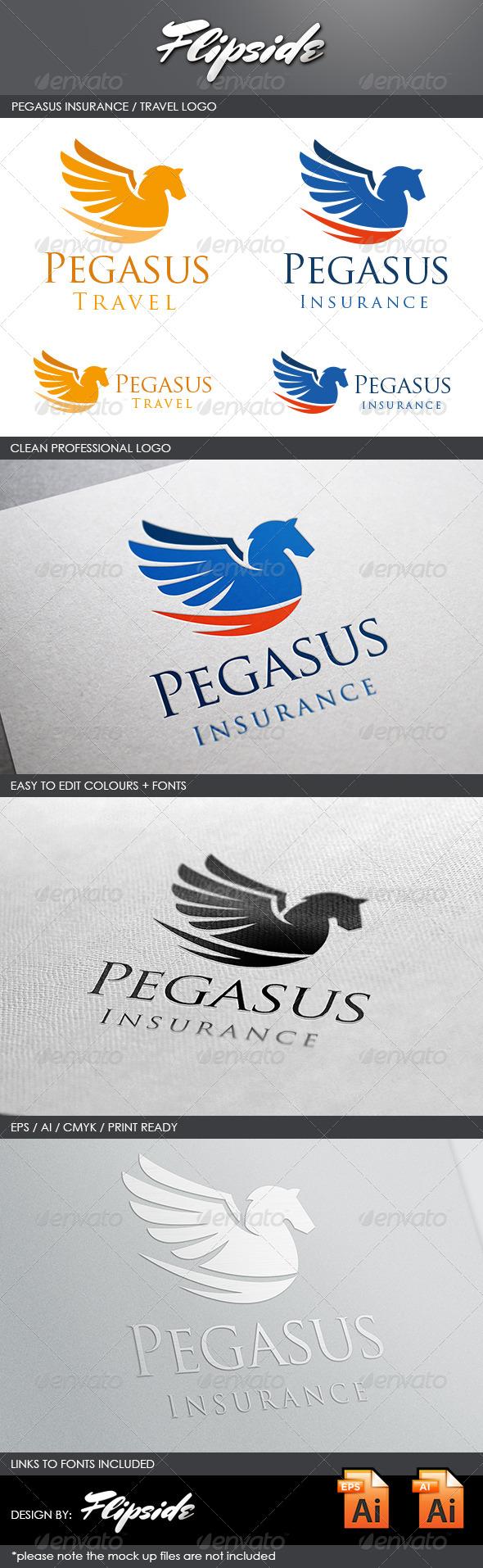 GraphicRiver Pegasus Logo 4442982