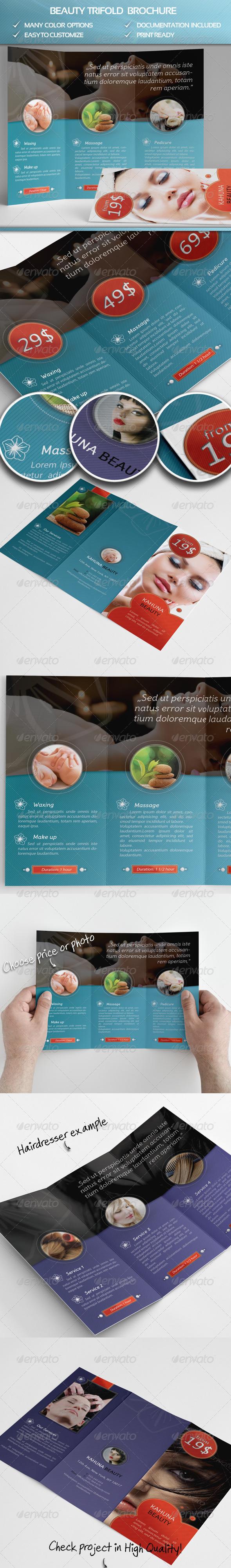 Beauty Trifold Brochure