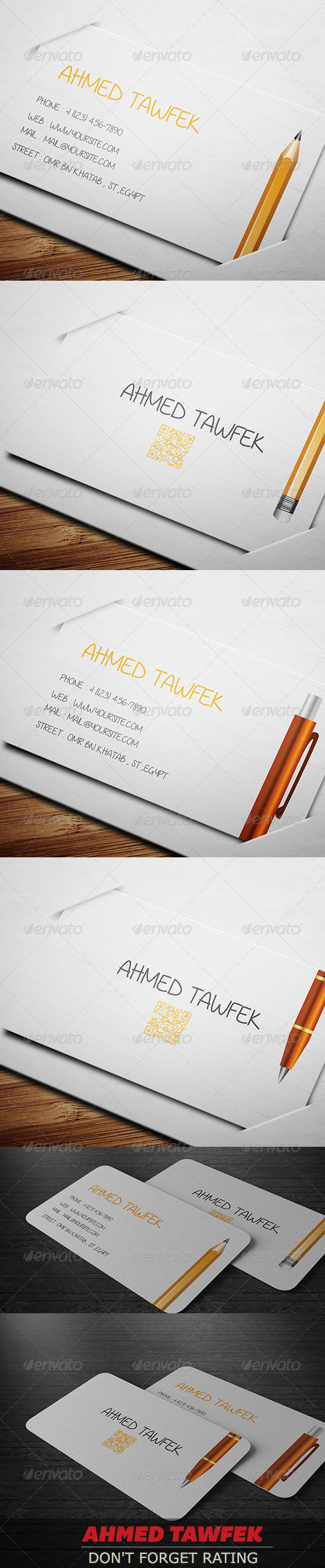 GraphicRiver Teachers Business Cards 4443044