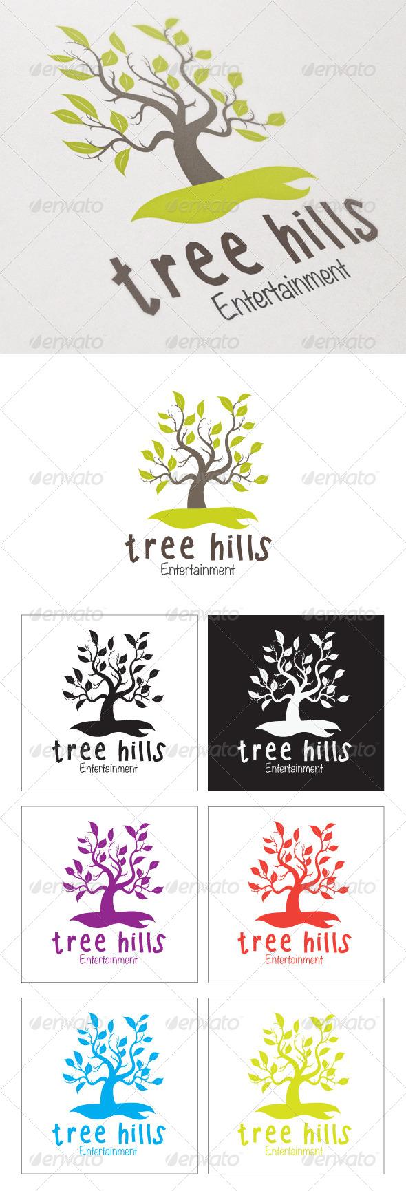 GraphicRiver Tree Hills 4362645