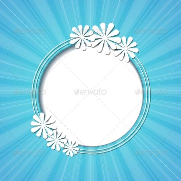 GraphicRiver Floral Frame 4443149