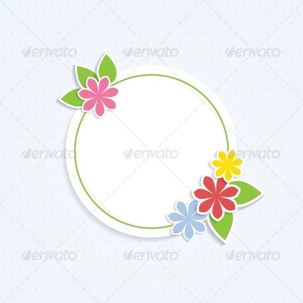 GraphicRiver Floral Frame 4443280