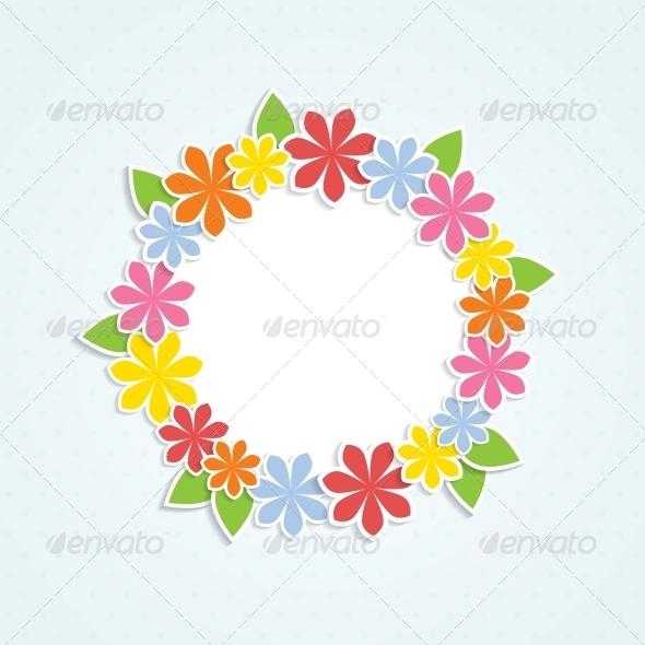GraphicRiver Floral Frame 4443334