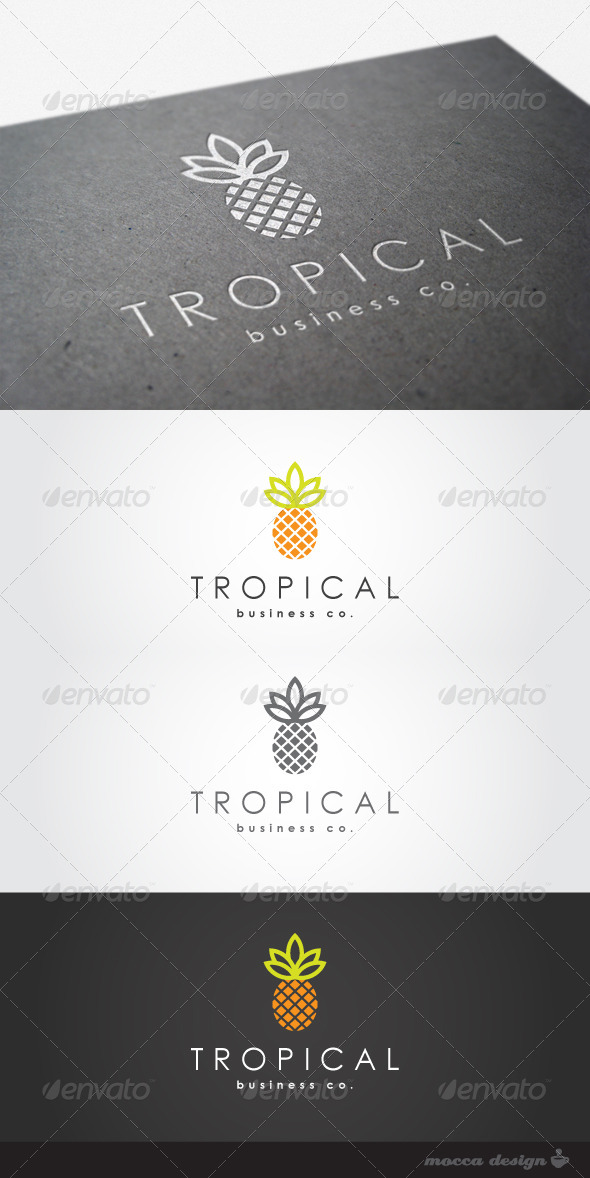 GraphicRiver Tropical Logo 4443387
