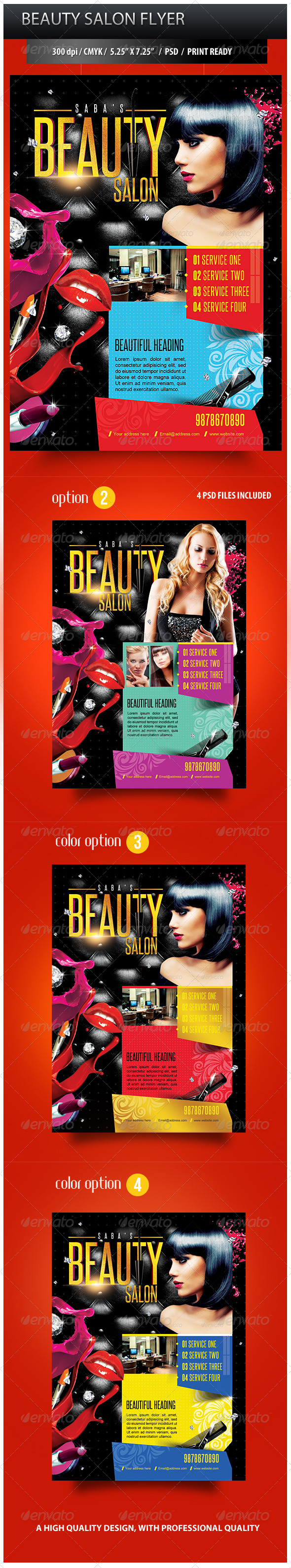 Beauty Salon Business Promotion Flyer Graphicriver