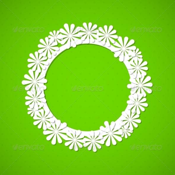 GraphicRiver Floral Frame 4443407