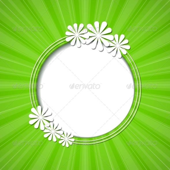 GraphicRiver Floral Frame 4443408