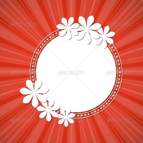 GraphicRiver Floral Frame 4443410