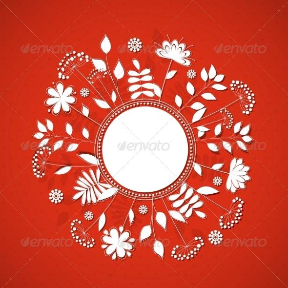 GraphicRiver Floral Frame 4443422