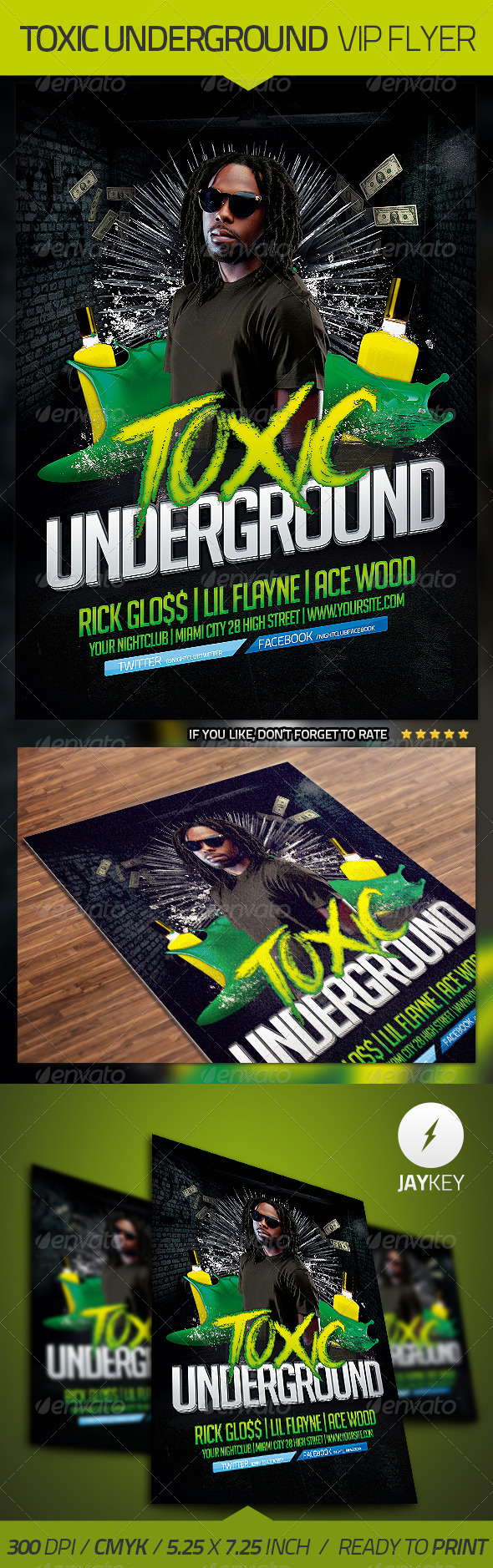 GraphicRiver Underground Flyer Template 4443873