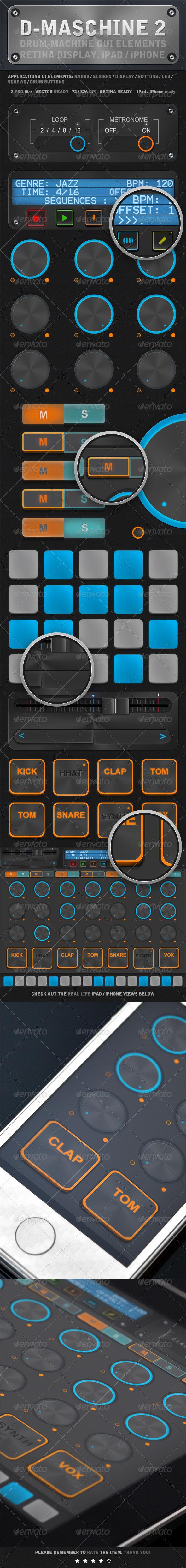 D-Maschine 2 iPad iPhone UI Elements