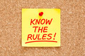 Know The Rules Sticky Note - PhotoDune Item for Sale