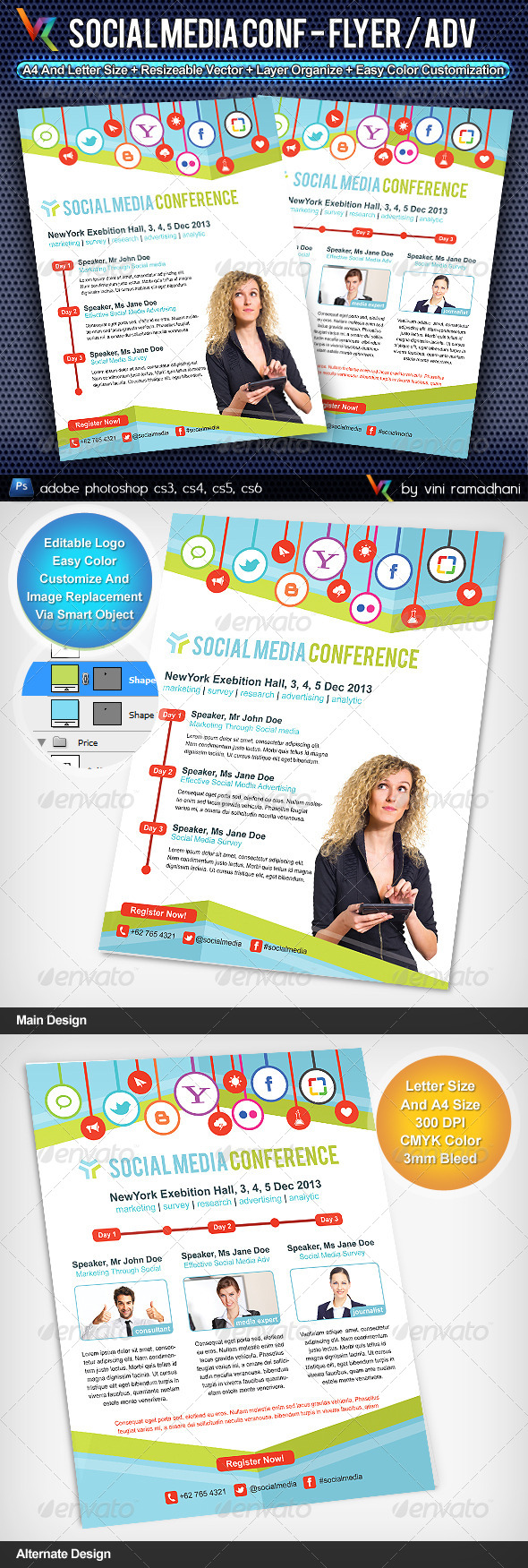 GraphicRiver Social Media Conference Flyer Or Advertising 4347058