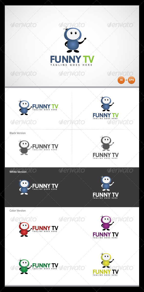 GraphicRiver Funny Tv Logo Template 4371171