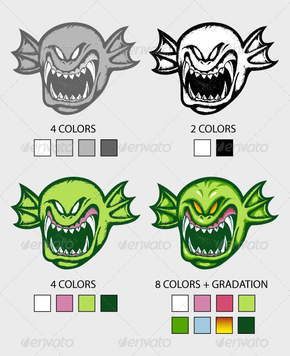 GraphicRiver Green Creature Hand Drawn 4444318