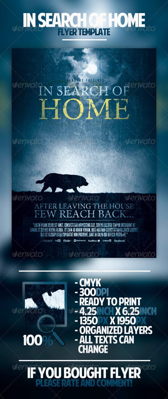 GraphicRiver In Search Of Home Flyer Template 4444357