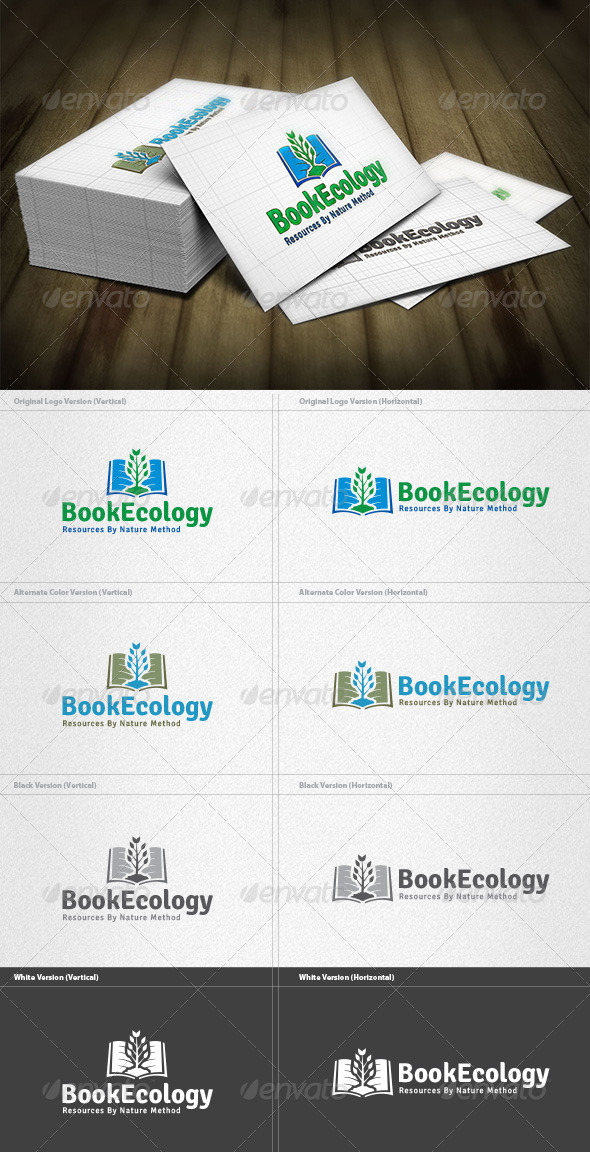 GraphicRiver Ecology Book Logo 4444753