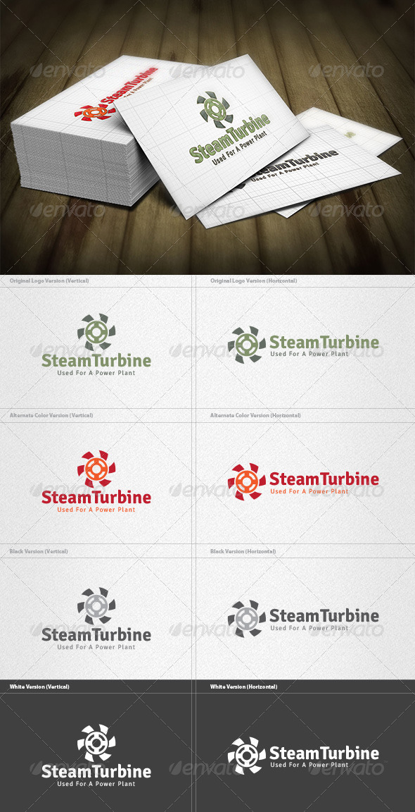 GraphicRiver Steam Turbine Logo 4444776