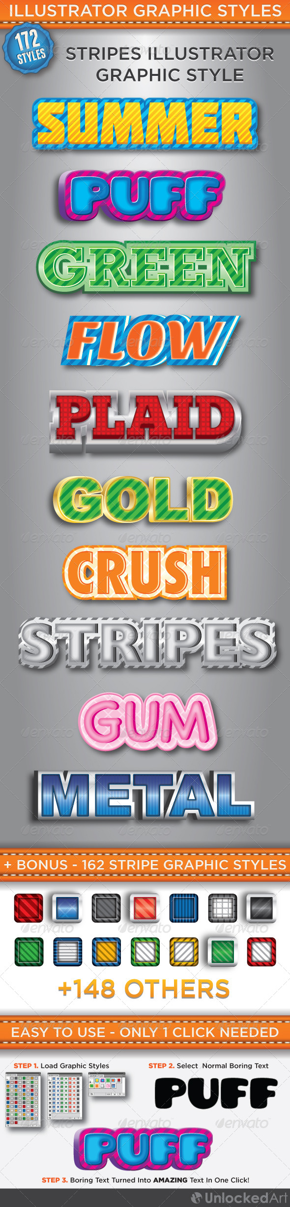 GraphicRiver Stripes Graphic Styles 4445157