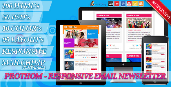ThemeForest Prothom Email Newsletter 4445230