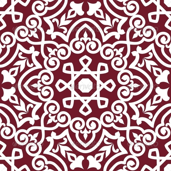 GraphicRiver Abstract Arabic or Persian Seamless Ornament 4445271
