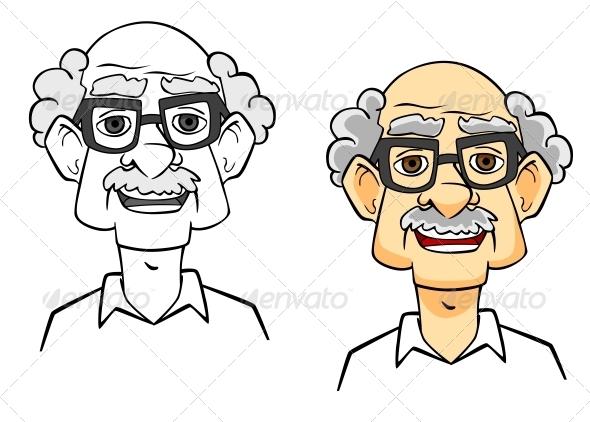 GraphicRiver Cartoon Senior Man 4445551