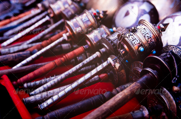 Prayer Drums - Stock Photo - Images