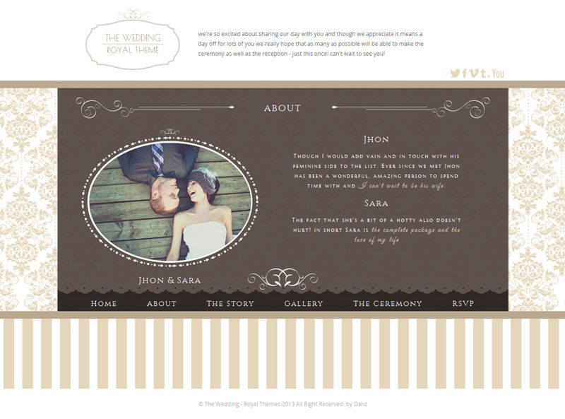 The Royal Wedding - Premium HTML Template