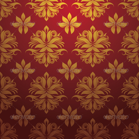 GraphicRiver Gold and Red Pattern 4445970