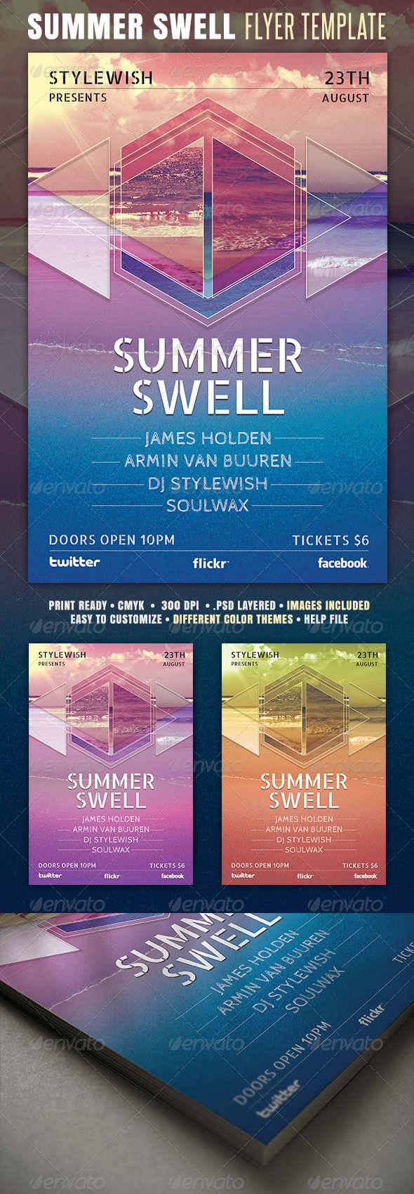 GraphicRiver Summer Swell Flyer 4445987