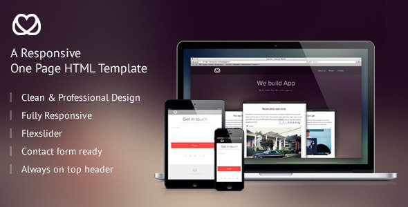 ThemeForest LovelyAgency Responsive One Page HTML Template 4418715