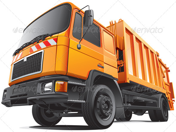 GraphicRiver Compact Garbage Truck 4446171