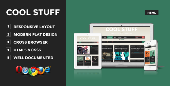 Cool Stuff - Responsive Blog/Magazine - Creative Site Templates