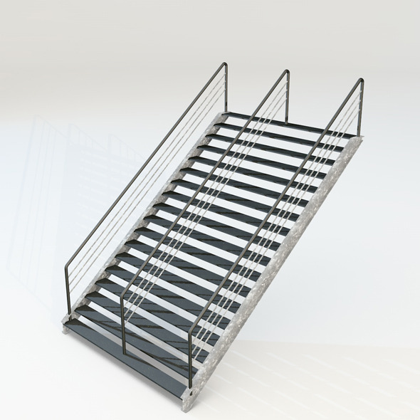 3DOcean double stairs 4437775
