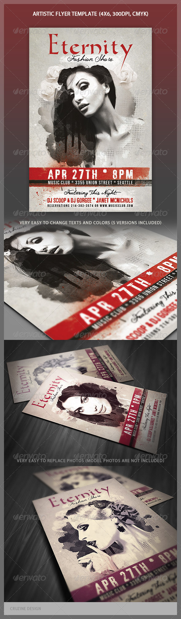 GraphicRiver Artistic Flyer Template 4348828