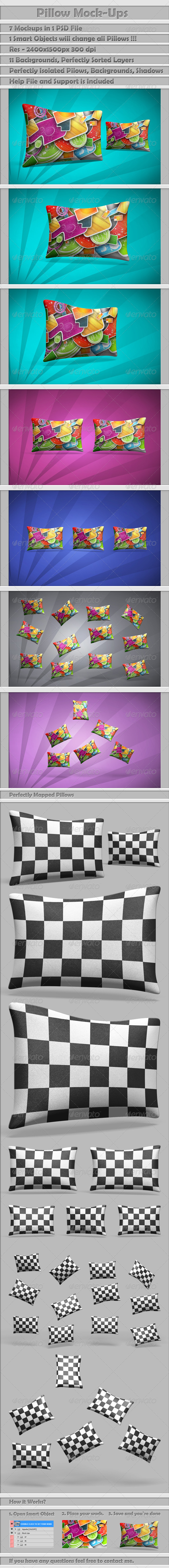 GraphicRiver Pillow Mock-Ups 4446316