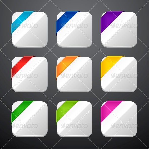 GraphicRiver Set of the App Icons with Ribbons 4446714